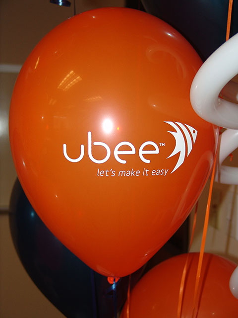 corporate logo balloons