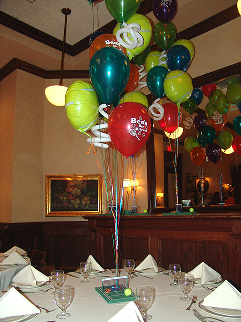 bar mitzvah tennis balloons