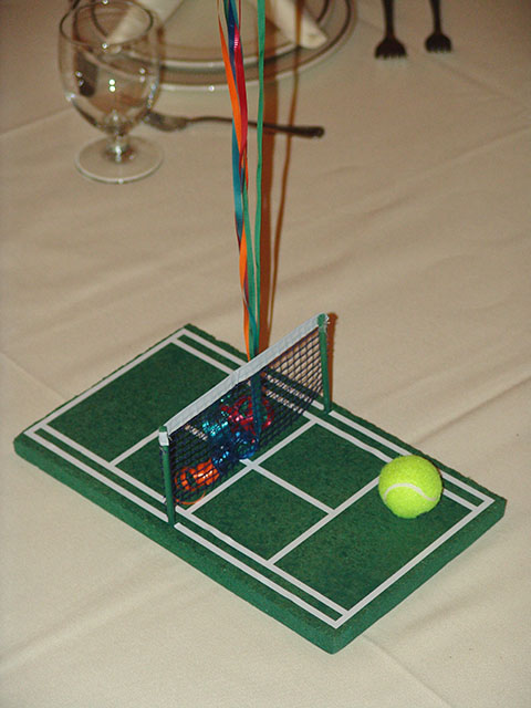 bar mitzvah tennis centerpiece