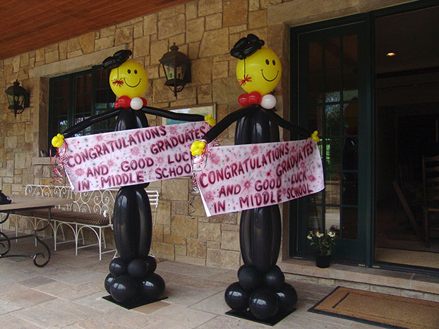 Graduation balloons balloons denver for Balloon decoration ideas for graduation