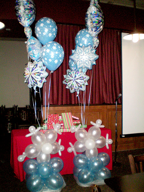 special winter balloon columns