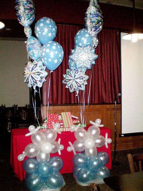 special winter balloon columns
