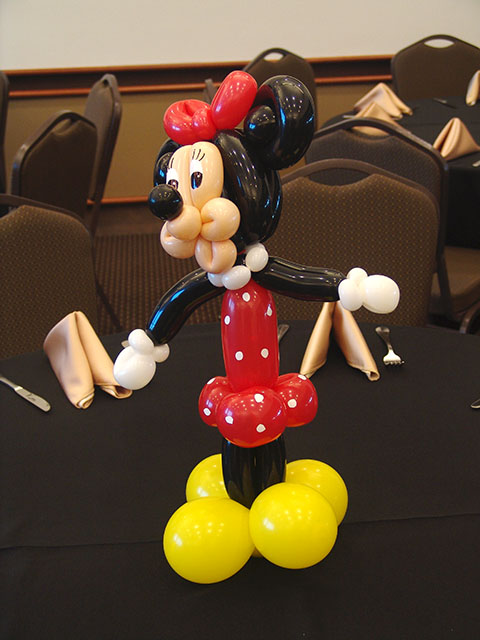 minnie mouse balloon centerpiece denver