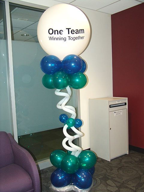 fun easy logo balloon columns denver
