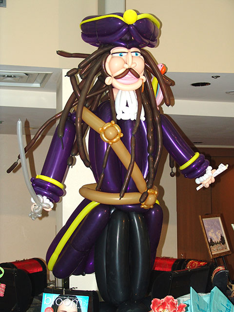 Disney pirates balloon sculptures