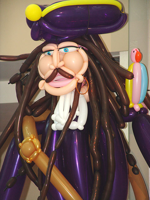 Pirates of the carribean balloon sculptures