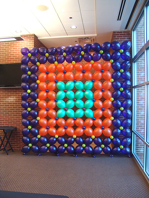 balloon backdrop for party pictures
