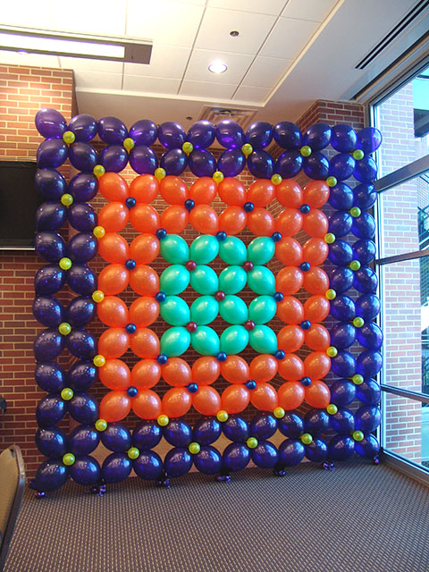 party balloon backdrop for pictures
