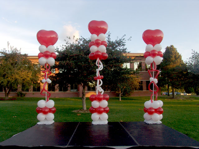 balloon columns heart theme denver