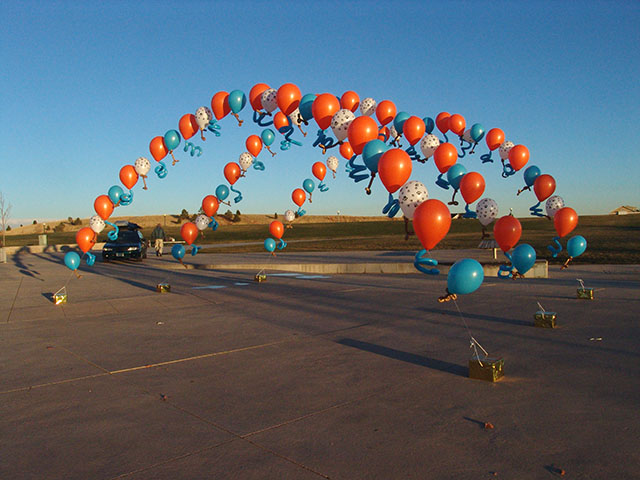 puppy balloon arch denver