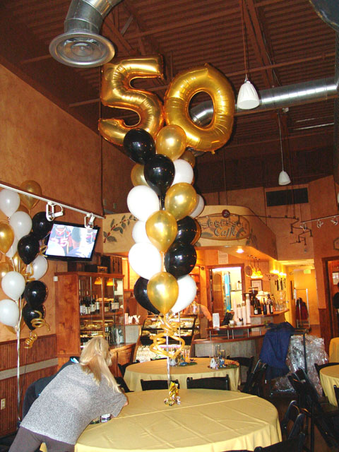 5oth Birthday Parties Are One 50th Party Balloon Bouquets