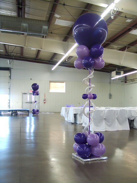 beautiful wedding balloon columns denver
