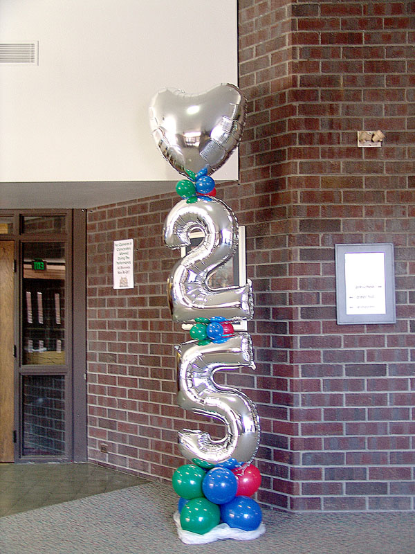 25th anniversary balloon column denver