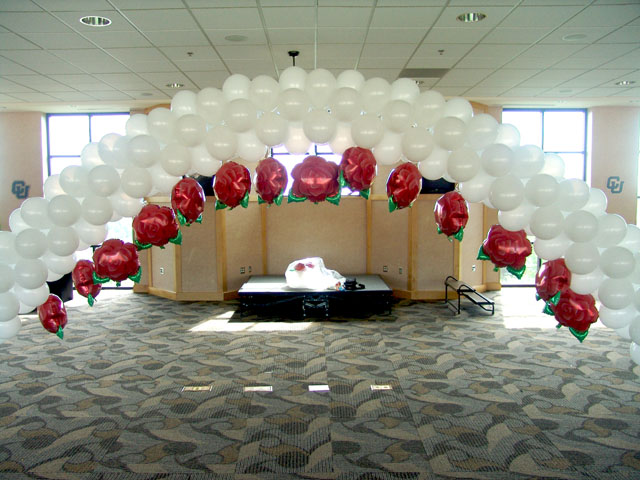 wedding balloon arch denver with roses